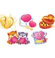 romantic symbols for valentine day vector image vector image