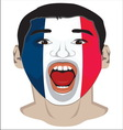 Go France face vector image vector image