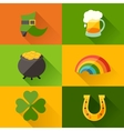 Saint Patricks Day background in flat design style vector image vector image