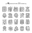Education Icons on White Background vector image