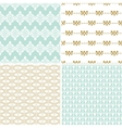 Seamless vintage floral background gold and pastel vector image vector image