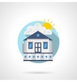 Cinema house color detailed icon vector image