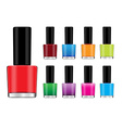 Color nail polish vector image