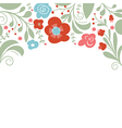 floral design place for text vector image