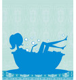 girl relaxes in the bath vector image