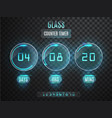 glass counter timer transparent countdown vector image