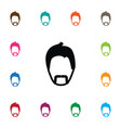 isolated moustache icon modern gentleman vector image