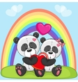 Lovers Pandas vector image