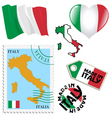 national colours of Italy vector image