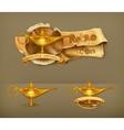 Oil lamp icon vector image