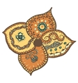Stylized flower with ethnic patten vector image