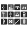 Flat Electricity and power icons vector image vector image