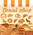 background store of bread and baking fresh vector image vector image