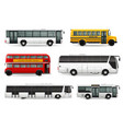 bus realistic set vector image vector image