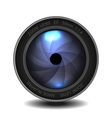 Camera photo lens with shutter vector image vector image