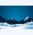 winter lanscape vector image