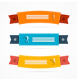 Ribbons Labels Set in Retro Colors vector image vector image