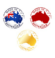 made in Australia stamp vector image