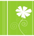 Beauty white Floweron and green backgrounds cardB vector image