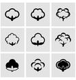 black cotton icon set vector image
