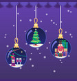 colorful in flat style xmas vector image