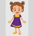 cute girl wearing purple costume vector image