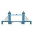 flat style tower bridge london england symbol vector image