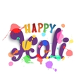 Happy Holi handmade calligraphic typeface vector image