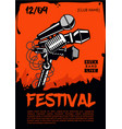 music festival poster template rock party vector image