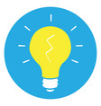 isolated yellow lightbulb vector image