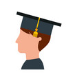 student graduated isolated icon vector image vector image