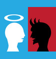 good man and evil man are talking about agreement vector image