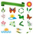 a collection of natural elements vector image vector image