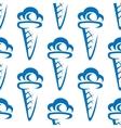 Ice cream waffle cones seamless pattern vector image