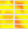 Polka dot pop-art retro style mega header set vector image