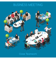Business 01 People Isometric vector image vector image