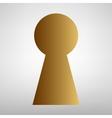 Keyhole sign Flat style icon vector image