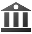 Bank Building Gradient Icon vector image