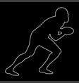 american football player the white path icon vector image