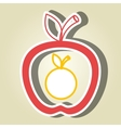 apple fruit with orange isolated icon design vector image