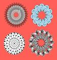 collection of abstract ornamental elements vector image