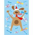 Holiday dog vector image