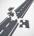 Road puzzle Stock vector image