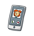Smartphone Cute doodle sketch isolated on white vector image