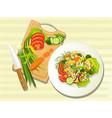 vegetarian food kitchen vector image
