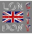British flag t shirt vector image