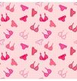 Woman linen seamless pattern vector image