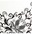 Retro floral background for vintage design vector image vector image