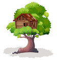 treehouse on the tree vector image vector image