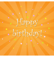 Happy Birthday Card With Stars vector image vector image